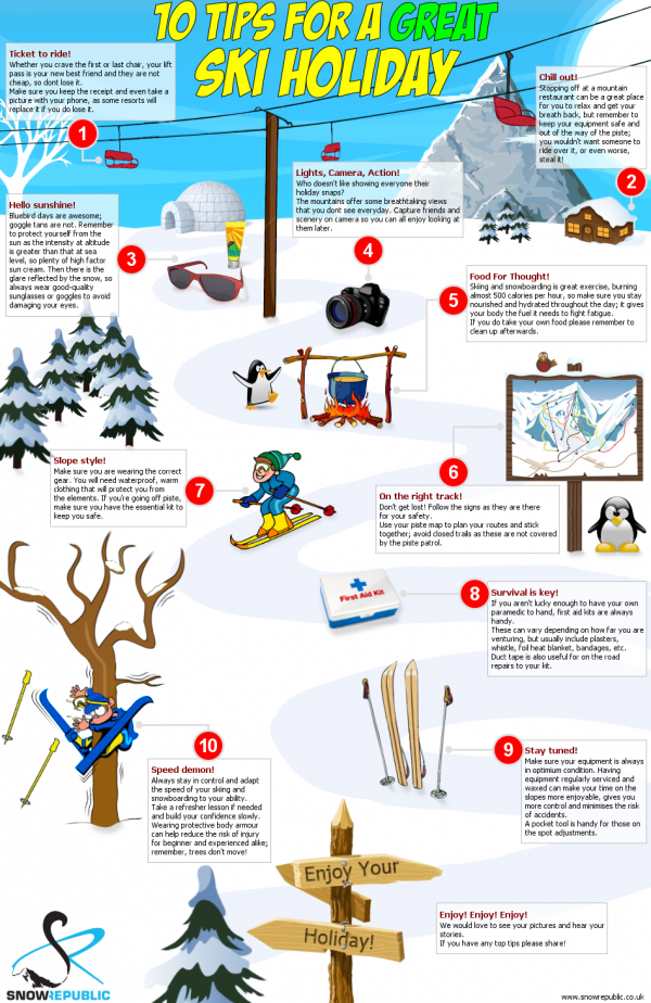 Snow Republic's 10 tips for a great ski holiday