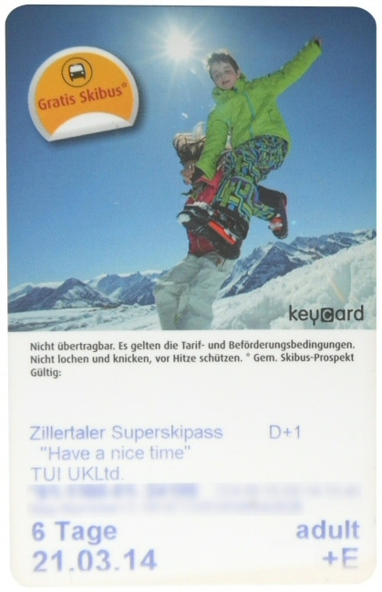 Ski Lift Pass - Ticket To Ride
