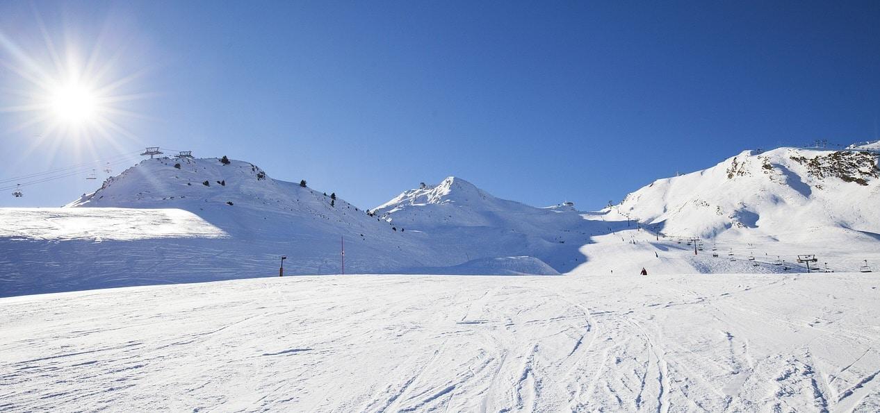 Andorra ski area on a beautiful day