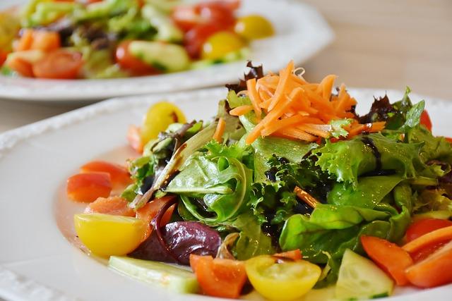 healthy salad dinner