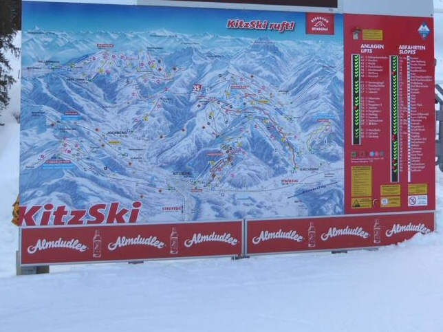Piste Map With Active Ski Run Information