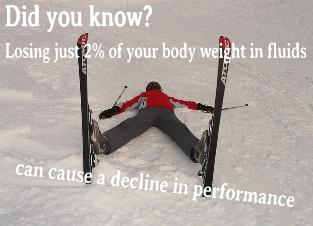 Skier taking a lying down