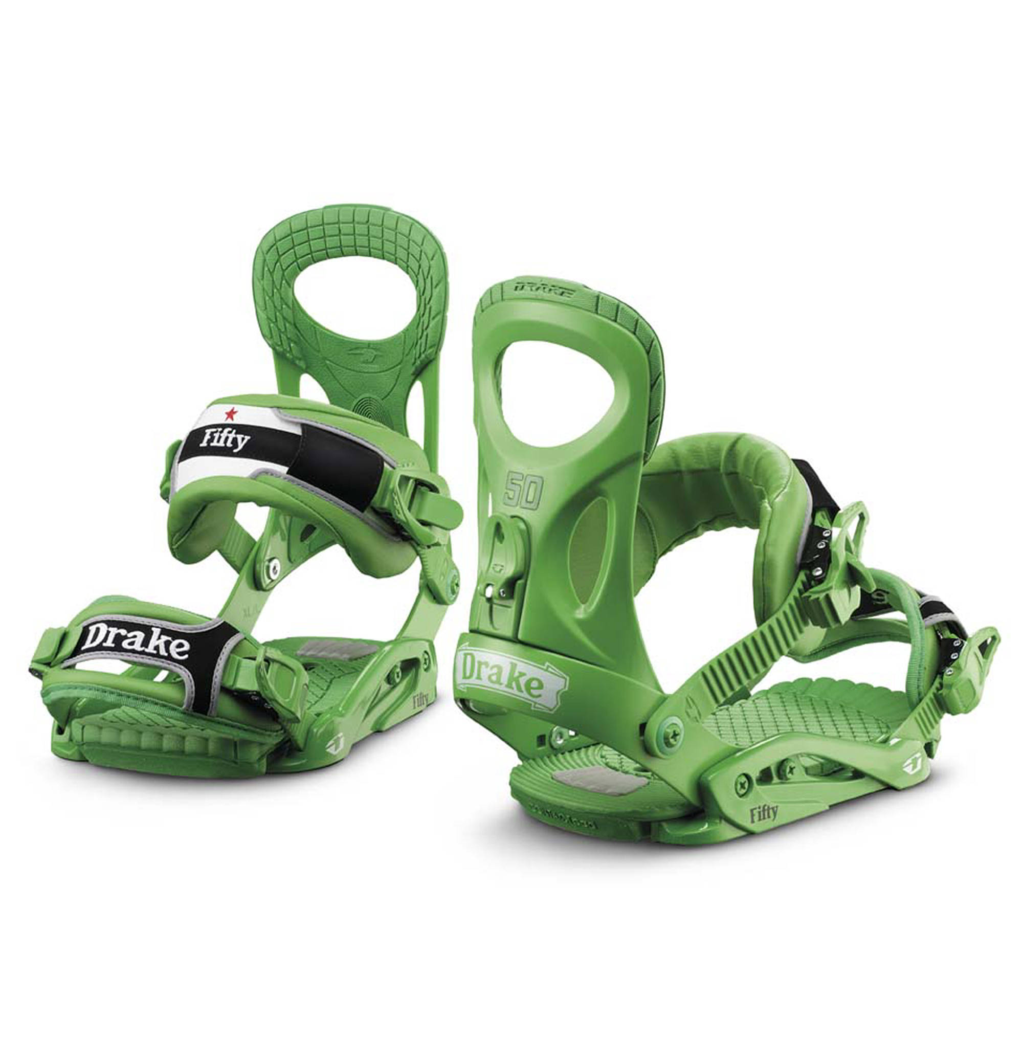 Drake Fifty Snowboard Bindings In Green