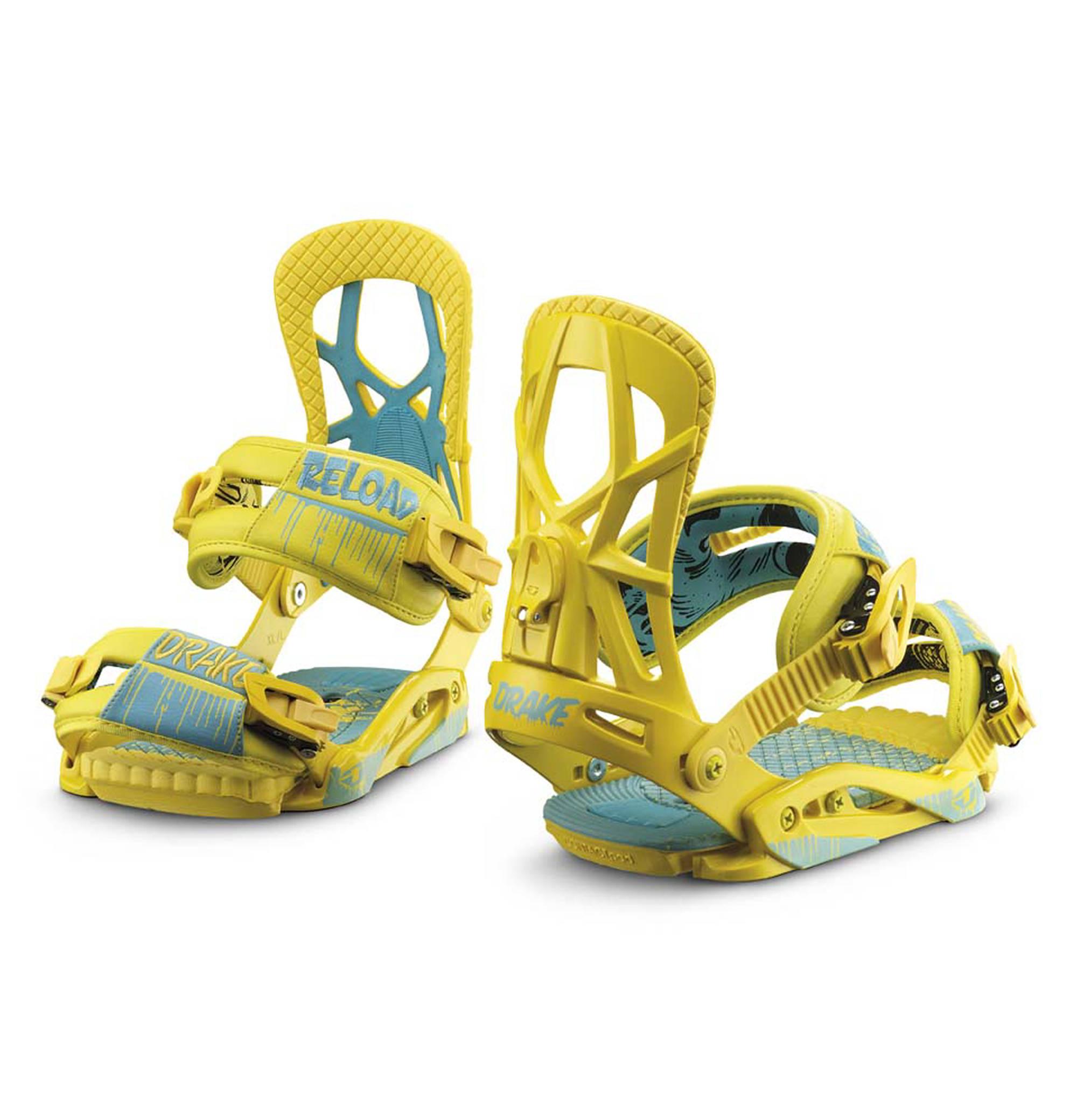 Drake Reload Snowboard Bindings In Yellow