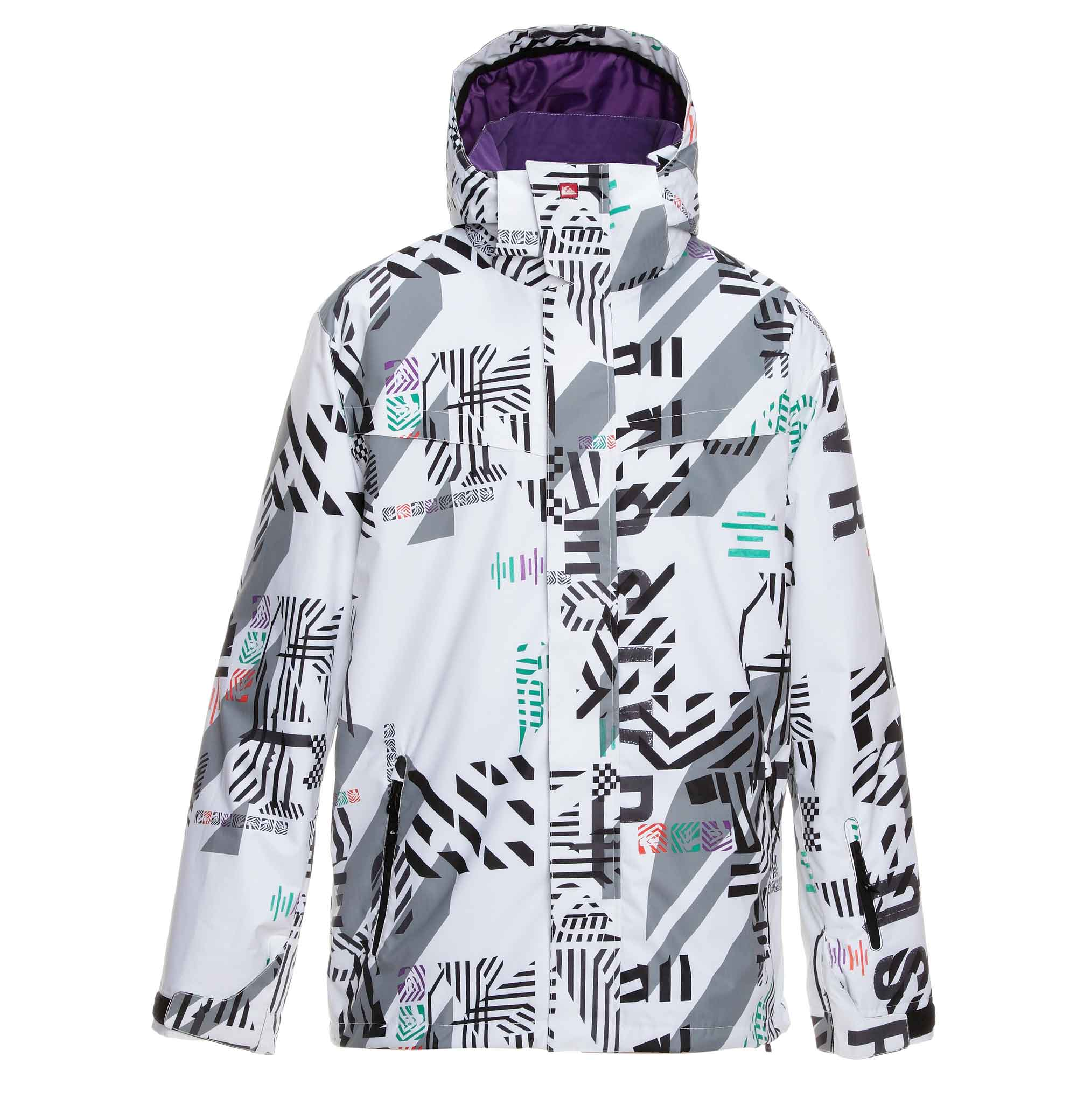 350560c77 Quiksilver Last Mission Print Insulated Ski Jacket in Dazzle